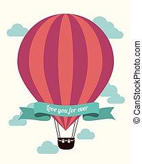 Airballoon design over white backgroundvector illustration