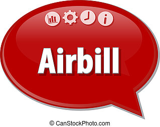 Airbill Business term speech bubble illustration