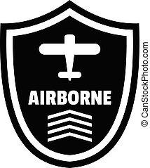 Airborne badge logo, simple style