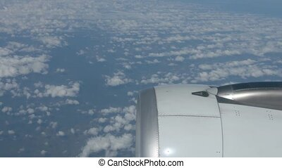 Airborne Perspective of Altocumulus Clouds taken over Engine...
