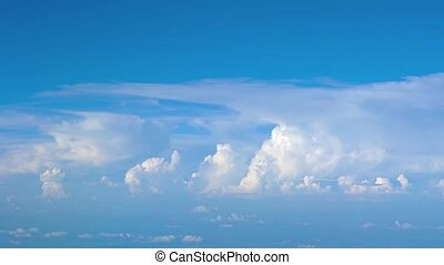 Airborne Perspective of Distant Storm Clouds. Video -...