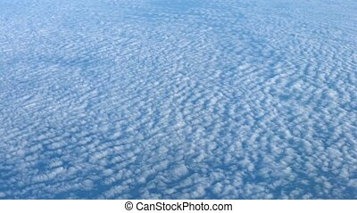 Airborne Shot of Altocumulus Clouds from Above - Video 1080p...