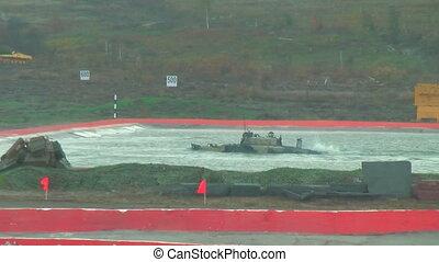 Airborne tracked armoured vehicle BMD-4M floats - Nizhniy...