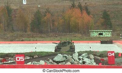 Airborne tracked armoured vehicle BMD-4M in water - Nizhniy...