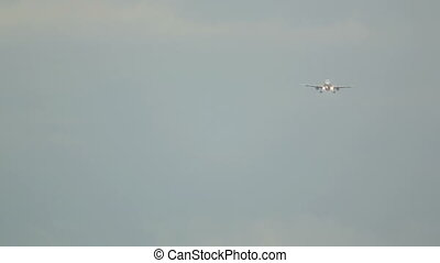 Airbus 320 approaching at Phuket airport