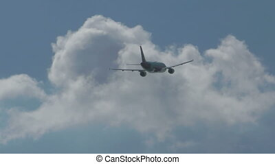 airbus, 320, het opstijgen, van, phuket, luchthaven