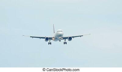 Airbus 320 landing - Airplane approaching before landing at...