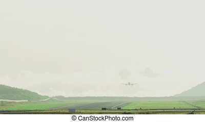 Airbus 320 landing at Phuket