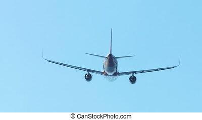 Airbus 320 taking off from International Phuket Airport