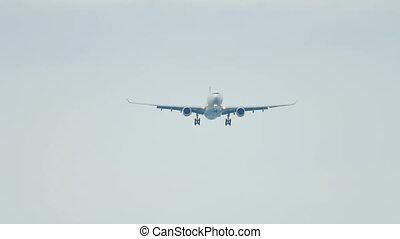 Airbus 330 landing - Airplane approaching before landing at...