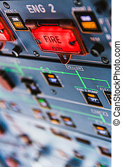 Airbus A320 Fire pushbuttons and warning lights - Fire...