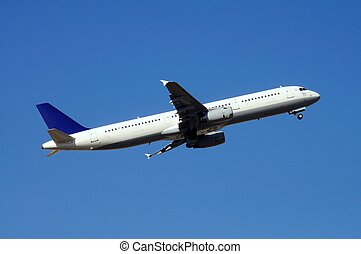 Airbus A321 Airplane. - Airbus A321 aeroplane taking off.