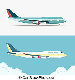 Airbus, Civil aviation plane vector