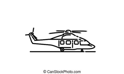 Airbus H175 line icon is one of the Aircraft icon set. File contains alpha channel. From 2 to 6 seconds - loop.