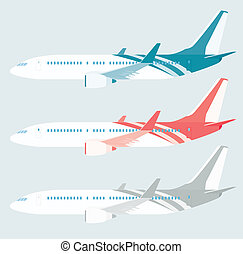 aircfrate pattern - colourful aircraft pattern