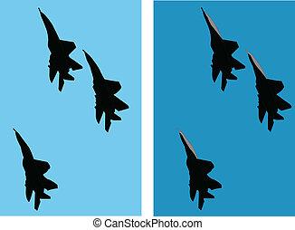 aircraft 2 - vector - illustration of aircraft - vector