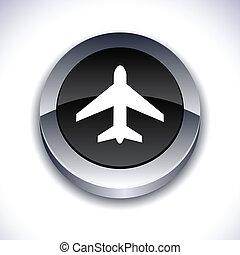 Aircraft 3d button.