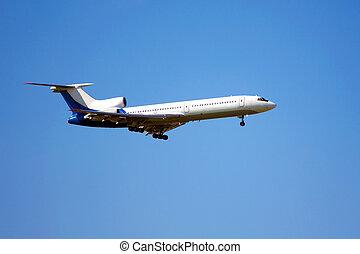aircraft against the blue sky