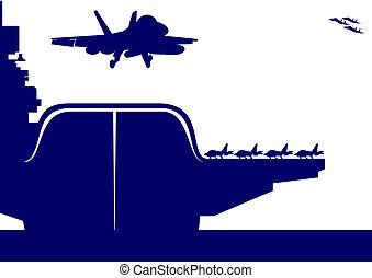 Aircraft and an aircraft carrier
