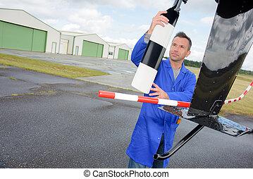 aircraft assembler at work