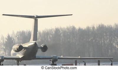 Aircraft at the airport.