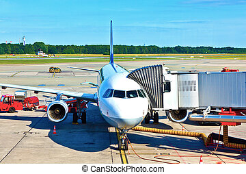 aircraft at the gate  - aircraft at the gate