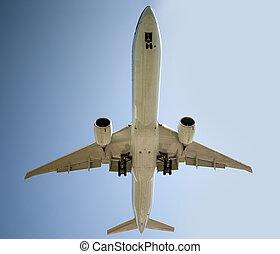 Aircraft before landing