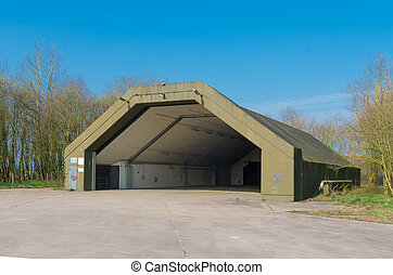 aircraft bunker - abandoned aircraft bunker on the former...