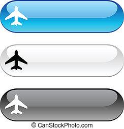 Aircraft button.