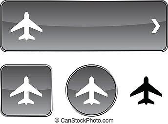Aircraft button set.