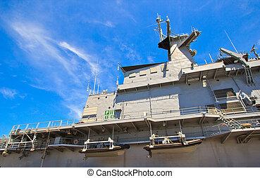 Aircraft carrier and battleship