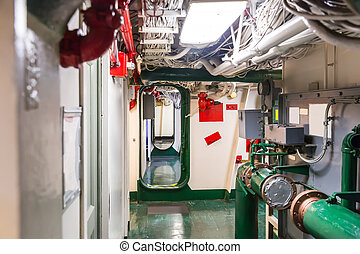 Aircraft carrier corridor