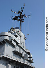 Aircraft Carrier - Upper structure of an aircraft Carrier