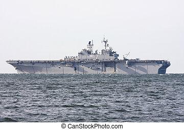 Aircraft Carrier - Light Aircraft Carrier at sea