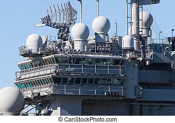 Aircraft Carrier - Bridge of an aircraft carrier