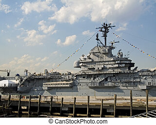 Aircraft Carrier - This is a shot of the bridge of a United...