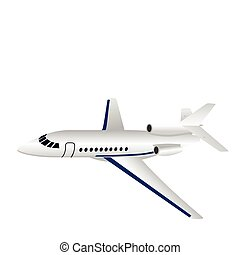 Aircraft - Realistic illustration aircraft is isolated on...