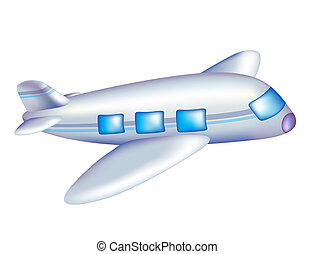 aircraft - cartoon aircraft in flight with a white...