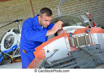 aircraft engine assembler