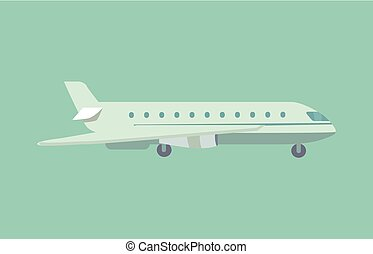 Aircraft Flying Leaving Trace Vector Illustration