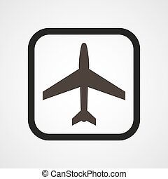 Aircraft Icon Flat Simple Vector illustration