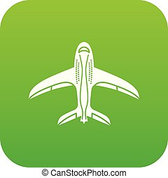 Aircraft icon, simple style