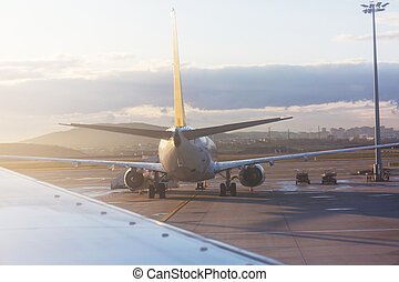 Aircraft in airport