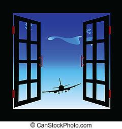 aircraft in sight illustration