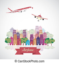 Aircraft in the city
