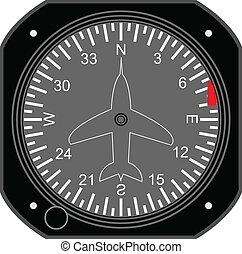 Aircraft instrument. - Aircraft Directional Indicator.