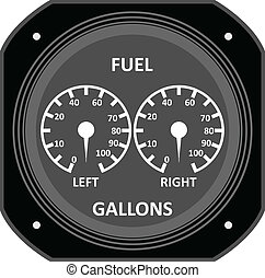 Aircraft instrument. - Aircraft Fuel Gauge.