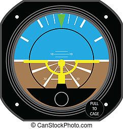 Aircraft instrument. - Aircraft Gyroscope.