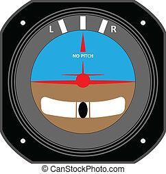 Aircraft instrument. - Turn Coordinator.