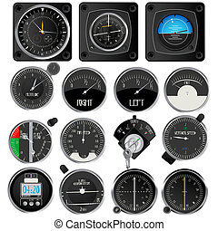 Aircraft instruments collection - Aircraft instruments,...